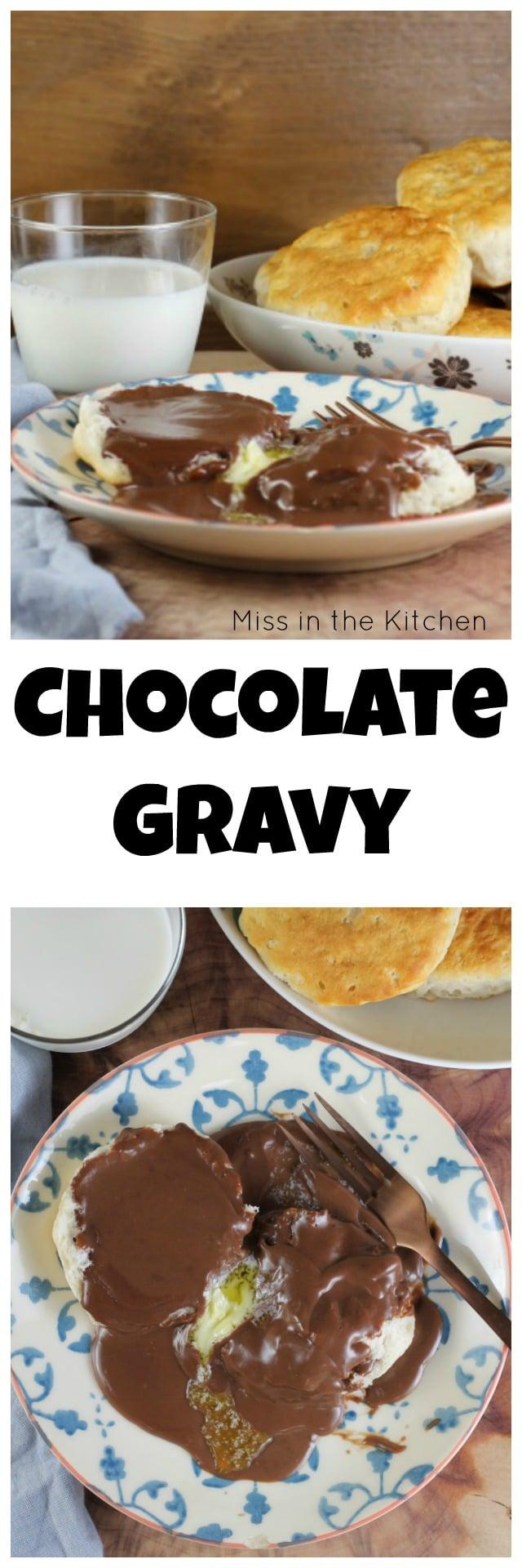 Homemade Chocolate Gravy Recipe from MissintheKitchen.com