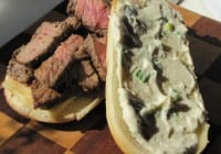 Steak Sandwiches with Green Onion Mayo