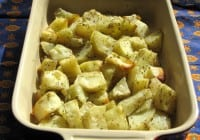 Oven Roasted Potatoes with dill and garlic