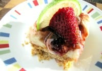 Stawberry Lime Cheesecake Squares