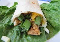 Grilled Apricot Chicken Wraps