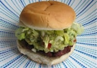 Barbecued Guacamole Burgers