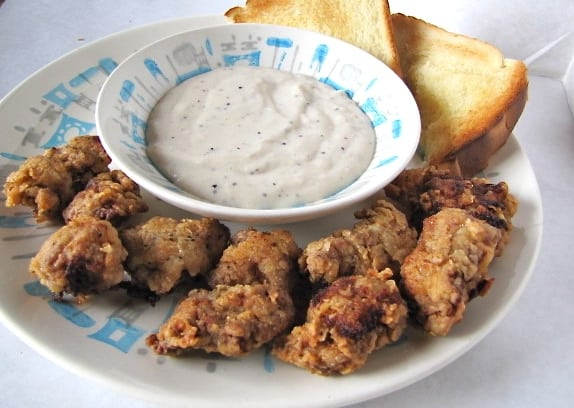 Chicken Fried Steak Bites -- MissintheKitchen.com