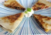 Smoked Turkey and Caramelized Onion Quesadillas