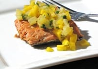 Chipotle Honey Glazed Salmon with Mango & Pineapple Salsa