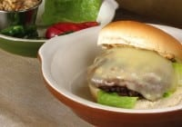 Outlaw Cheese Burgers with Roasted Red Onion-Jalapeno Mayo