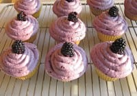 Green & Black's White Chocolate and Blackberry Cupcakes