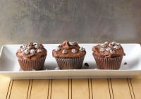 Chocolate Cupcakes with Sour Cream Frosting