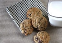 Oatmeal Cookies with Green & Blacks Chocolate Chunks