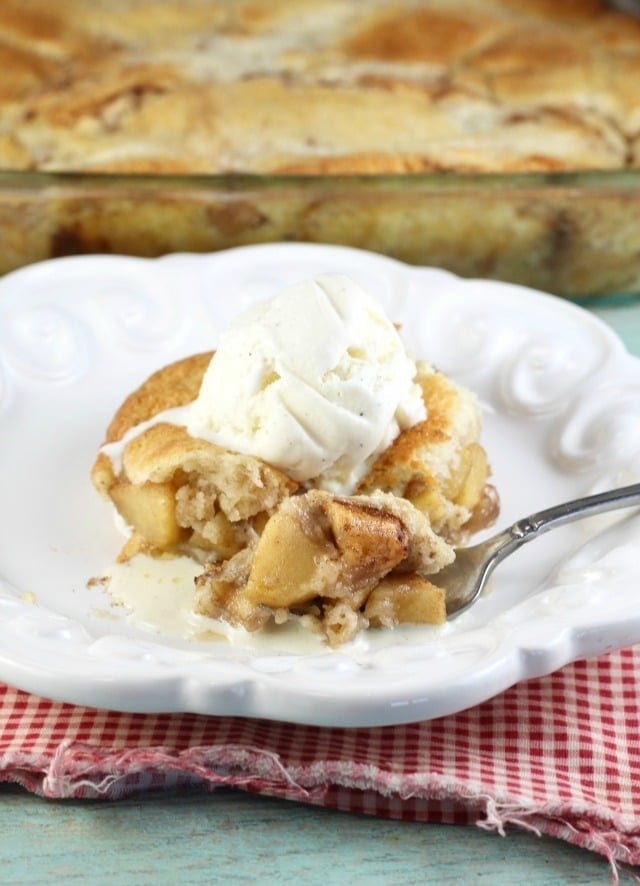 Easy Apple Cobbler Recipe just like grandma made! From MissintheKitchen.com