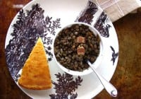 Lentils with Bacon & Onion