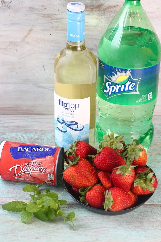 Ingredients for Easy Strawberry Wine Punch Recipe