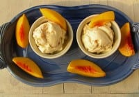 Roasted Peaches & Honey Ice Cream