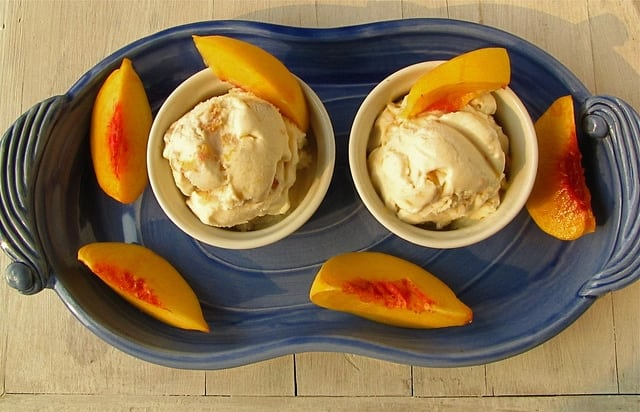 7785456932 5a28f69ea3 z Roasted Peaches & Honey Ice Cream