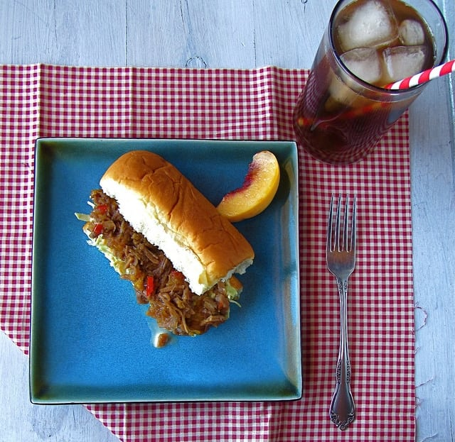 Peach Barbecue Pulled Pork | Miss in the Kitchen