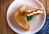 Barbecued Bacon-Blue Grilled Cheese