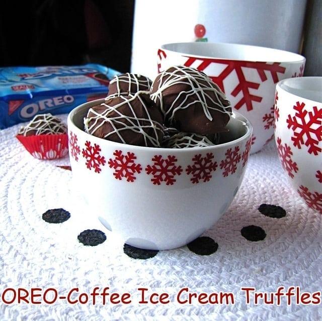 OREO-Coffee Ice Cream Truffles {Play Up Dessert with OREO}