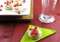 Pomegranate Ricotta Toasts with Honey & Rosemary