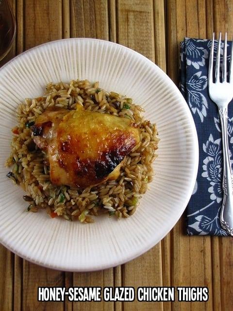 Honey Sesame Glazed Chicken Thighs   Miss in the Kitchen