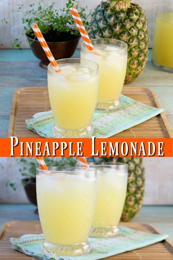 Easy Pineapple Lemonade Recipe is a refreshing drink for summer parties