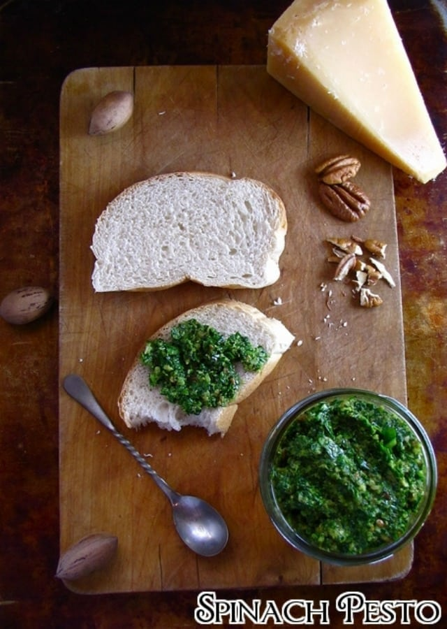 spinach pesto from Miss in the Kitchen