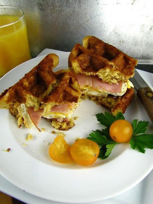 Waffle Breakfast Sandwiches from www.missinthekitchen.com