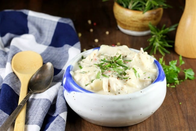 Homemade Chicken and Dumplings Recipe ~ MissintheKitchen.com