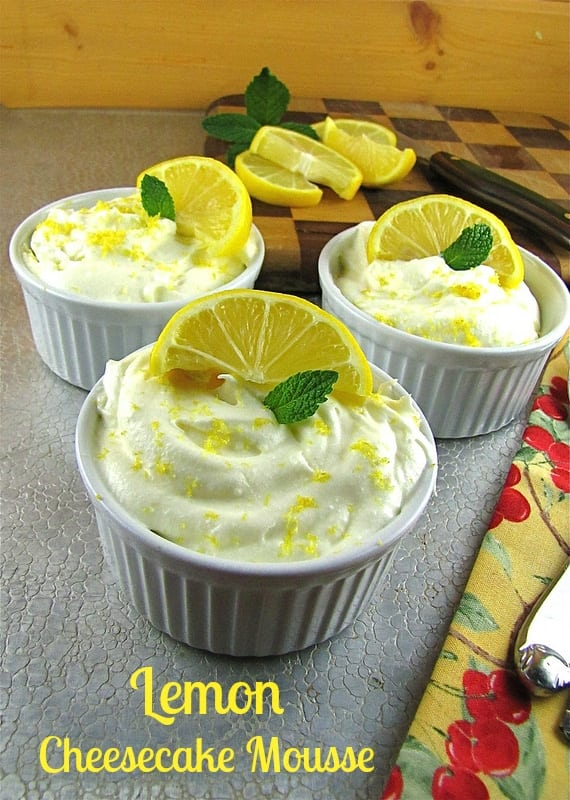 Lemon Cheesecake Mousse Miss in the Kitchen Lemon Cheesecake Mousse