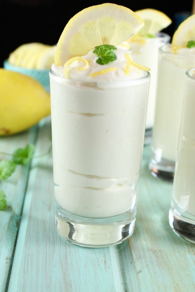 Lemon Cheesecake Mousse Recipe ~ Delicious dessert for any occasion. From MissintheKitchen.com