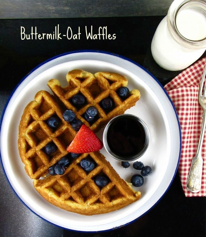 buttermilk oat waffles Miss in the Kitchen Waffle Wednesday: Buttermilk Oat Waffles