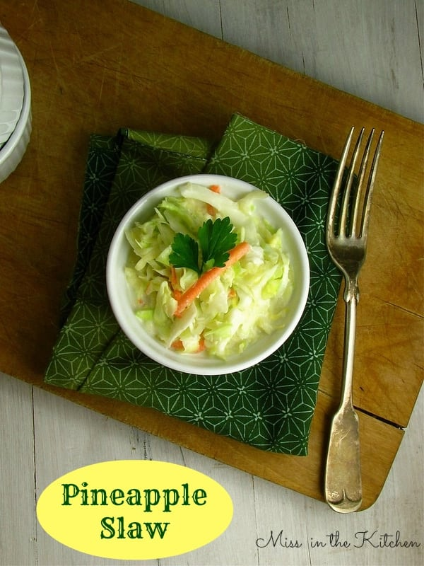 Pineapple Slaw - Miss in the Kitchen