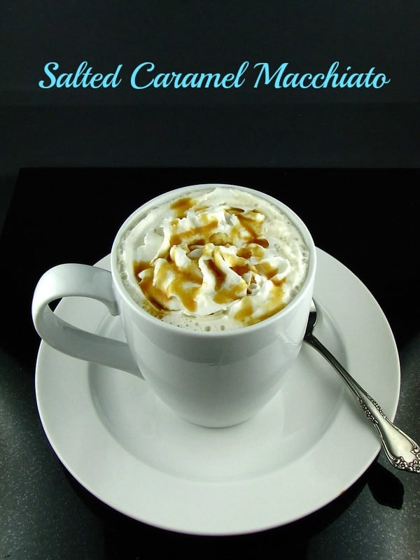 Salted Caramel Macchiato from Missinthekitchen.com  Salted Caramel Macchiato