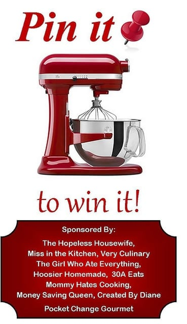 Pin it to Win it: KitchenAid Professional Series 6 Qt. Mixer - Miss in the Kitchen