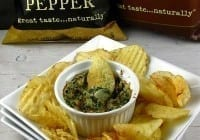 Pepper-Jack Spinach Dip with The Real Kettle Chips