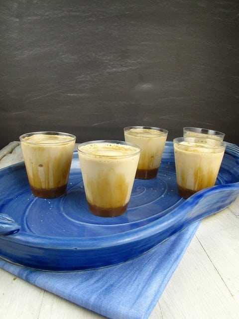 Salted Caramel Macchiato Milk Shake Shots - Miss in the Kitchen