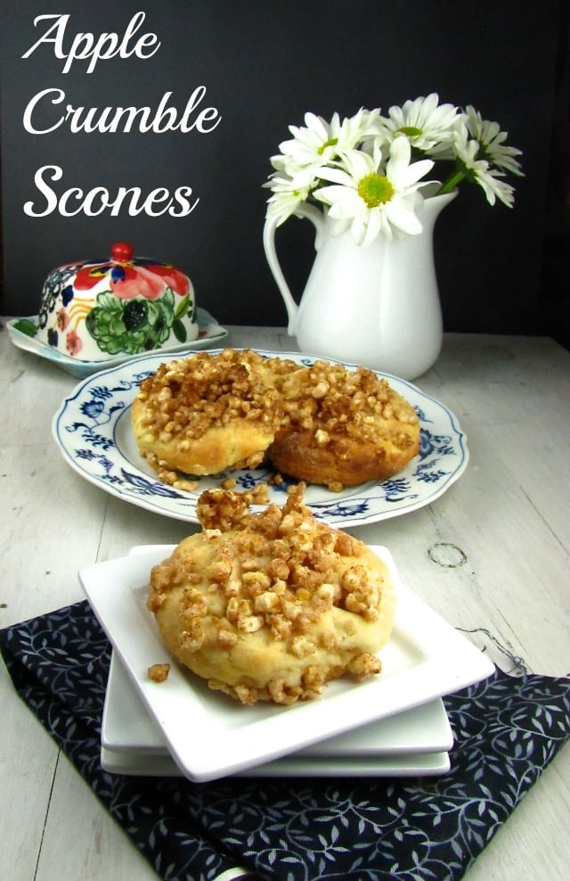 Apple Crumble Scones - Miss in the Kitchen