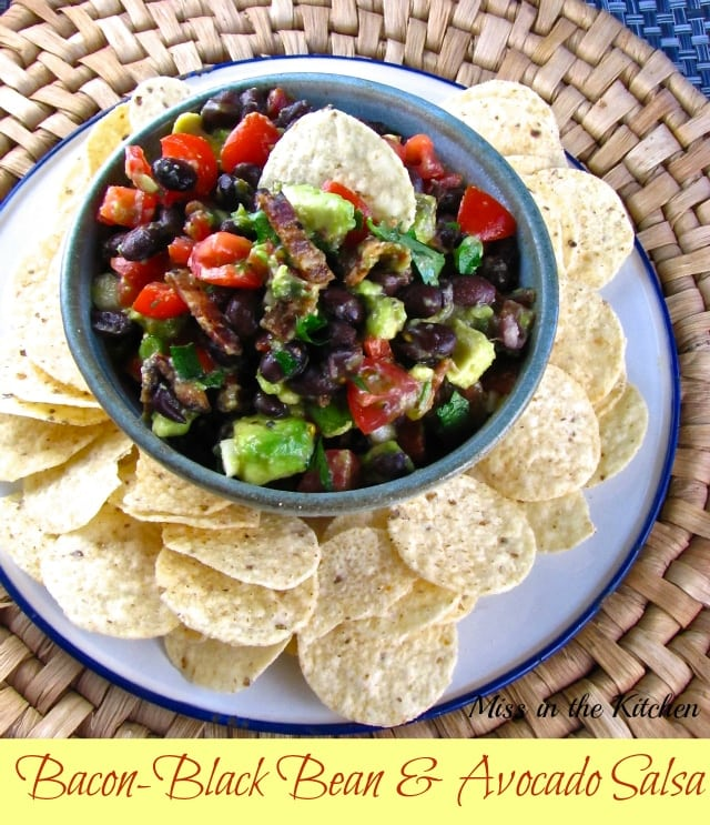 Bacon-Black Bean & Avocado Salsa - Miss in the Kitchen
