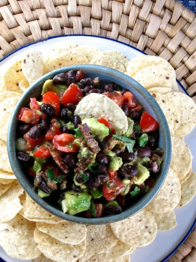 bacon black bean avocado salsa 2