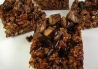 Peanut Butter & Chocolate Rice Krispie Treats