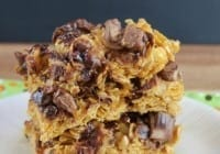No-Bake Gooey Caramel-Heath Cereal Bars