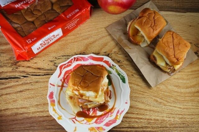 kings hawaiian caramel apple sliders
