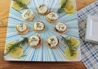 Whipped Feta Spread with Lemon, Garlic and Rosemary