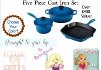 Le Creuset 5 Piece Cast Iron Set Giveaway