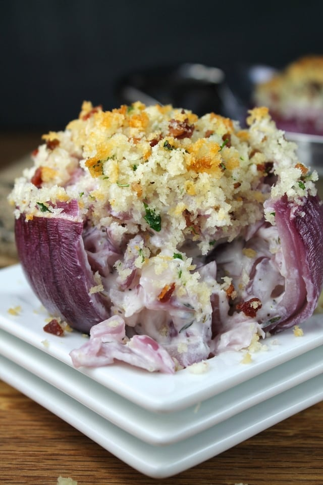 creamy roasted red onions  missinthekitchen