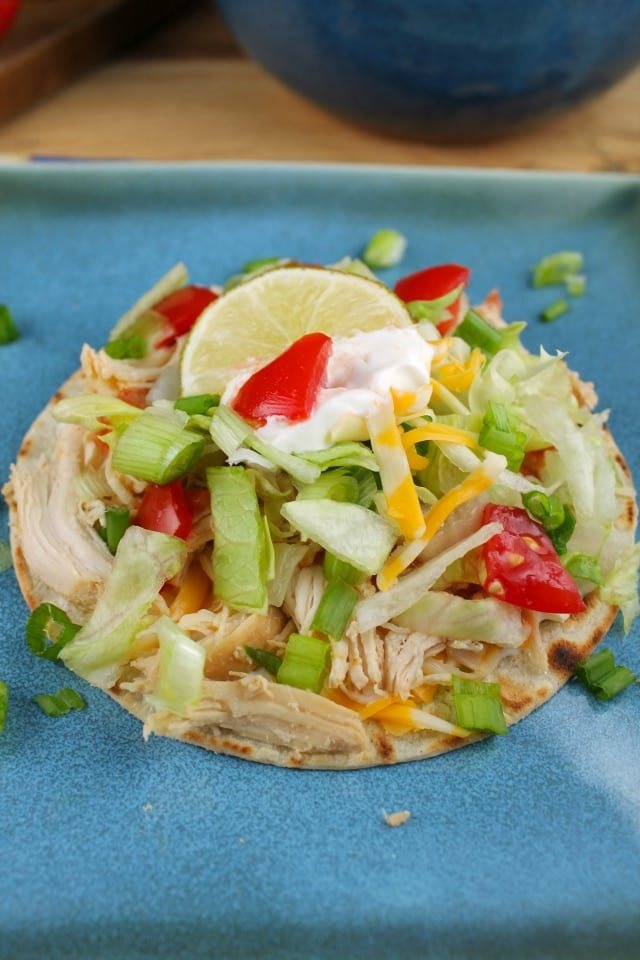 marg chicken tostada