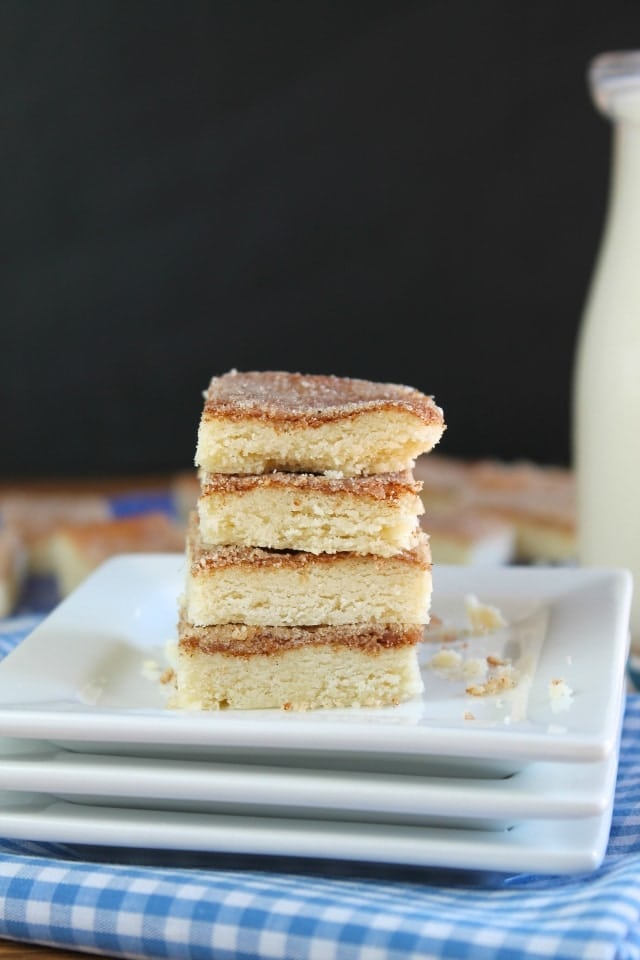 snickerdoodle shortbread - missinthekitchen