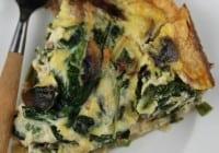 ham spinach and mushroom quiche 3