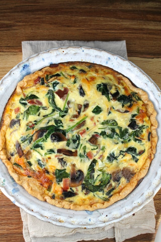 ham cheese spinach quiche