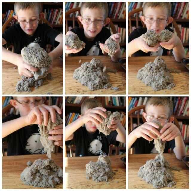 kinetic sand collage