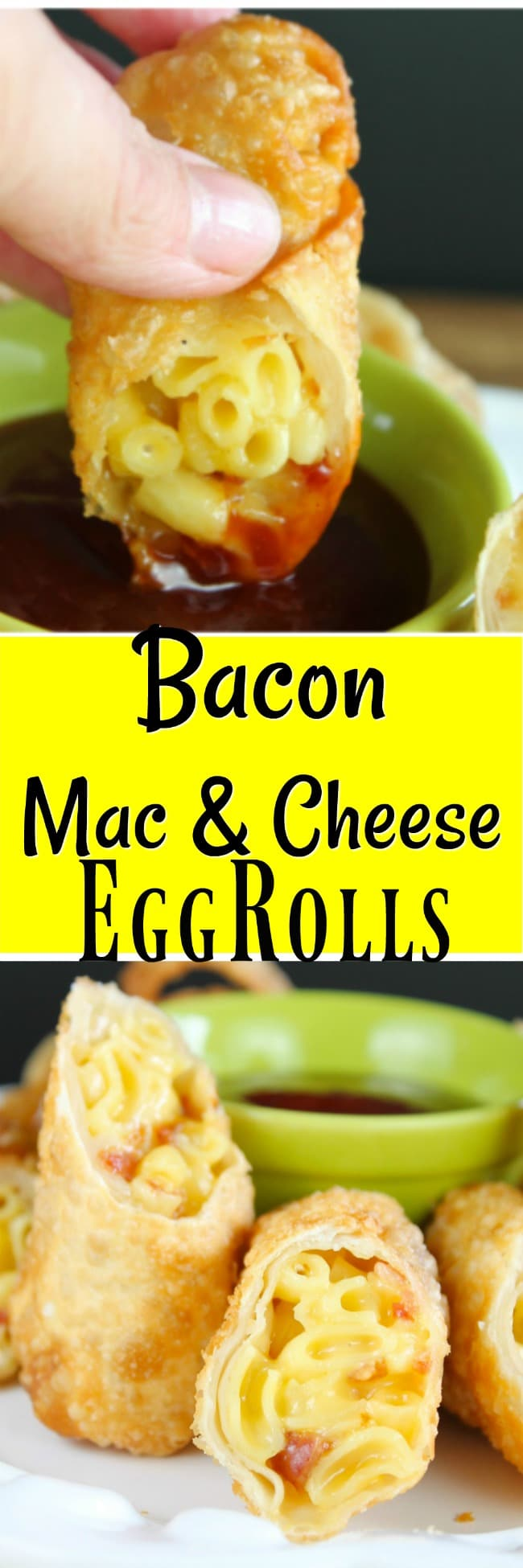 Bacon Mac & Cheese Eggrolls